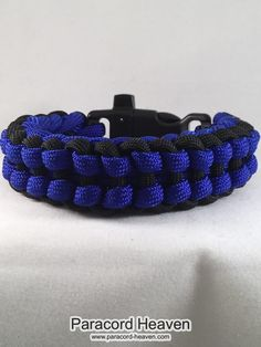 Now available on our store: Daddy's Blue - Ji... Check it out here! http://www.paracord-heaven.com/products/daddys-blue-jigged-ladder-paracord-survival-bracelet-with-emergency-whistle