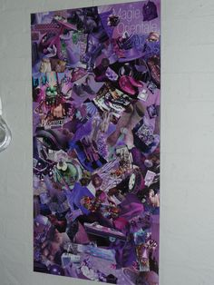Large homemade purple collage...