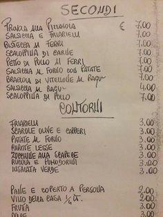 Naples menu