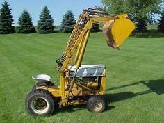 Cub Cadet 100 with Kwikway Loader Heavy Equipment, Outdoor Power Equipment, Garden Tractor Attachments, Lawn Mower Tractor, International Tractors, Cub Cadet, Garage Tools, Outdoor Tools, Outdoor Gardens