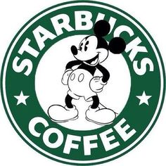 Mickey Mouse Starbucks Logo