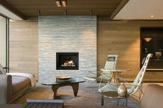 Modern fire places ideas ad modern fireplace design ideas 1 home decorations ideas for free Modern Fireplace, Fireplace Design, Contemporary Fireplaces, Outdoor Fireplaces, Fireplace Wall, Fireplace Ideas, Diy Design, Design Ideas, Wooden Ceilings