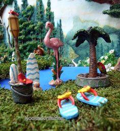 Miniature Fairy Garden Tropical Beach Kit Set - 5 pc GI 30005297 Dollhouse   eBay