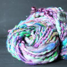 boho free spirited handspun art yarn hand spun by MissKnitYarns