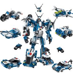 Troll Tree Kids 6 in 1 Building Deformation Robot Block Toys Transforming Toys Robot Model Heroes Rescue Bots for Children's Educational Boys Girls -- Click image for more details. (This is an affiliate link) Toddler Toys, Kids Toys, Rescue Bots, Robots For Kids, Building Blocks Toys, Model Building, Boat Building, Bricks, Police