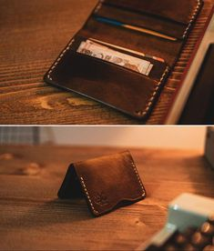 You are faced with a italian leather wallet that reflects the British style you see in the photos. It will be a very elegant choice for those who prefer suits in daily wear. Brown Leather Wallet, Leather Card Case, Leather Bifold Wallet, Leather Men, Soft Leather, Custom Mens Wallets, Gents Wallet, Groomsmen Gifts Unique, Handmade Wallets