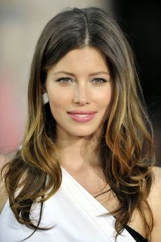 Jessica Biel, i love her hair color here! Best Ombre Hair, Ombre Hair Color, Brown Hair Colors, Hair Colour, Jessica Biel, Jessica Beil Hair, Ombré Hair, Hair Day, Her Hair
