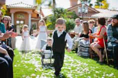 Flower Girls and Ring Bearers. Rustic wagon. French Country Wedding