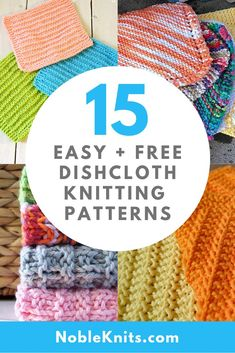 15 Easy + Free Dishcloth Knitting Patterns Knitted Dishcloth Patterns Free, Beginner Knitting Patterns, Knitted Washcloths, Knitting Blogs, Knit Dishcloth, Knitting Stitches, Free Knitting, Knitting Yarn, Knitting For Beginners