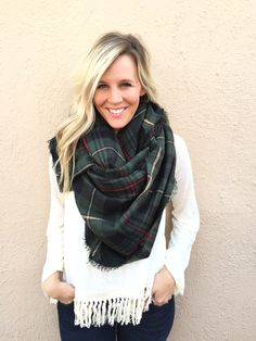 Evergreen and Pine Blanket Scarf from Shop Southern Roots TX Blanket Scarf, Autumn Winter Fashion, Christmas Ootd, Winter Outfits, Dress Up, Cute Outfits, Fall Clothes, Style Inspiration, Fashion Outfits