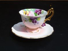 vintage footed porcelain mini cup & saucer Occupied Japan 1946 - 50 #OccupiedJapan