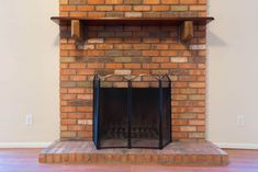 A collection of the best brick fireplace ideas showcasing a range of brick fireplaces with matching decor to give you inspiration. White Wash Brick Fireplace, Red Brick Fireplaces, Open Fireplace, Fireplace Mantels, Fireplace Ideas, Stone Masonry, Brick And Stone, High Heat Spray Paint, Brick Shelves