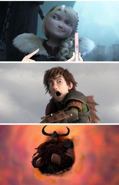 Ba ha ha !!! All of their expressions are brilliant ! :')<<< Hiccup hiccup hiccup. Didn't your parents ever teach you about the Safe Birds and The Bees? Obviously not. Stoick! Don't encourage him!