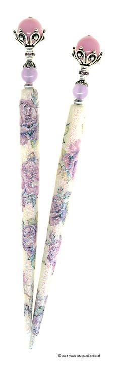Orchid purple jade Ramblin' Rose Special Edition LongLocks SugarStix Hair Sticks