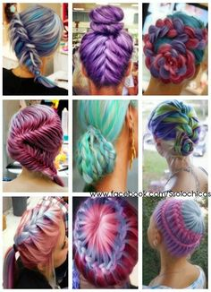 Splat Hair Color: colored braids for long hair