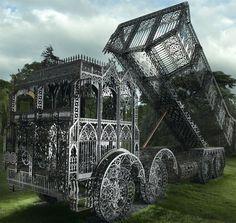 Wim Delvoye's gothic dump truck