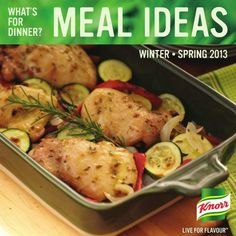 """""""Pin"""" our latest issue of Meal Ideas for everyday dinnertime inspiration! Straight from our Chefs in the Knorr® Kitchens, we've created delicious, balanced meals to help you answer 'What's for Dinner?' http://whatsfordinner.knorr.ca/i/120614"""