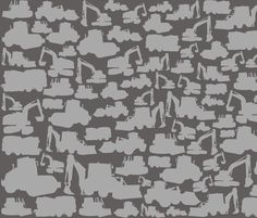 Boys toys grey fabric by smuk on Spoonflower - custom fabric