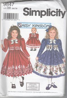 Girls Border Dress Jacket 18 Doll Pattern UNCUT Size 5 by Zinnias