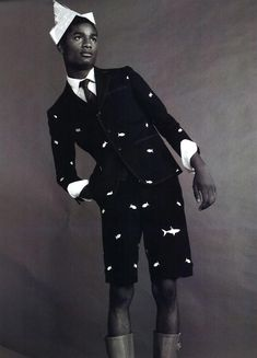 Salieu Jalloh, Henry Watkins & Ambrose Carter by Benny Horne in Thom Browne for Wonderland