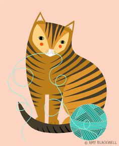 Custom Cats - Art and illustration by Amy Blackwell