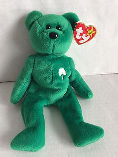 842b049aa11 Ty Beanie Baby Erin the Irish Bear with Hang Tag in very Good Condition