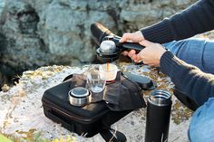 Handpresso - handheld portable espresso coffee maker you can carry around in your pocket - for the camper/coffee-freak in your life!