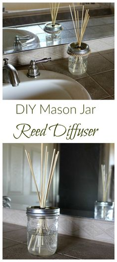 Combine your favorite essential with a carrier oil and add some bamboo skewers for this simple DIY reed diffuser!