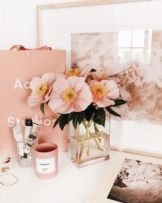 """the White Wash print 🌊 Link in bio x"""" Vanity Decor, Beauty Room, Pink Aesthetic, Home Decor Inspiration, Wall Collage, My Room, Girly Things, Decoration, Bedroom Decor"""
