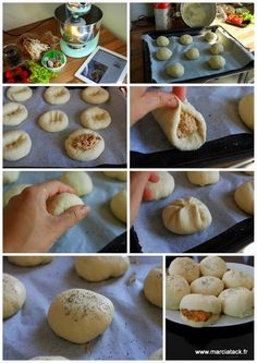 Real buns stuffed, with the good taste of bread that will quickly make you hooked Here … Cooking Chef, Cooking Recipes, Rigatoni Recipes, Mini Burgers, Ramadan Recipes, Arabic Food, Turkish Recipes, Yum Yum Chicken, Frugal Meals