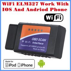 [Visit to Buy] [Free Shipping]2017 New Arrival Code reader Diagnostic Tool WiFi ELM327 WiFi Work With iPhone and Android OBD-II OBD Can #Advertisement