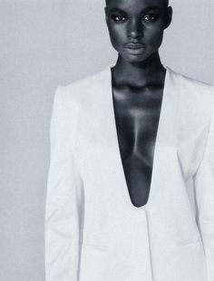 """pradaphne:  Jeneil Williams in """" The V"""", photographed by Roe Ethridge for The Gentlewoman Spring/Summer 2013."""