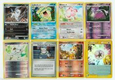 Pokemon lot of 8 cards WITH RARES ALL PICTURED Not Perfect with ABSOL