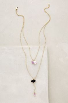 Double Drop Amethyst Necklace - anthropologie.com #anthroregistry