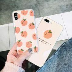Primitivo Peach Print Phone Case - iPhone 6 / / Plus / iPhone 7 / Plus / iPhone 8 / Plus / iPhone SE /iPhone X / / Pro / Max Kpop Phone Cases, Girly Phone Cases, Pretty Iphone Cases, Iphone Phone Cases, Iphone 11, Fone Apple, Diy Phone Case Design, Smartphone, Aesthetic Phone Case