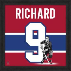 Maurice Richard Montreal Canadiens Players Uniframe