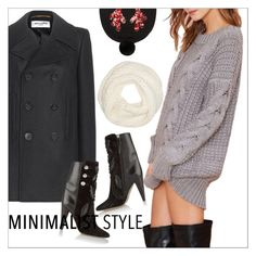 """""""Chic Minimalist Style"""" by danielle-487 ❤ liked on Polyvore featuring Yves Saint Laurent, Isabel Marant, Helmut Lang, Markus Lupfer, vintage, Minimaliststyle and bhalo"""