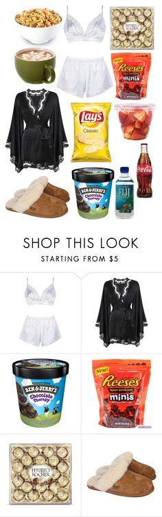 """""""Dinner and movies night"""" by belym on Polyvore featuring moda, Boohoo, Agent Provocateur, Therapy y UGG Australia"""
