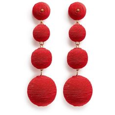 Kenneth Jay Lane 'Carnival' threaded sphere drop earrings (6.710 RUB) ❤ liked on Polyvore featuring jewelry, earrings, red, geometric jewelry, couture jewelry, earring jewelry, drop earrings and kenneth jay lane jewelry
