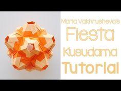 kusudama - modular origami - Dryade - Natalia Romanenko - tutorial - dutchpapergirl - YouTube