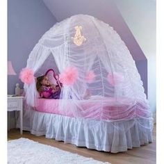 Bedroom tent canopy fairy tale bed tent in kids room decor girls bed tent canopy home . Dream Bedroom, Girls Bedroom, Bedroom Decor, Bedroom Ideas, Master Bedroom, Little Girl Beds, Princess Bedrooms, Disney Princess Bedroom, Princess Room Decor