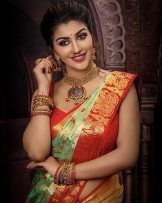 Indian Bridal Photos, Baby Girl Images, Saree Photoshoot, Glamorous Makeup, Saree Look, Cute Faces, Indian Beauty, Indian Actresses, Gorgeous Women