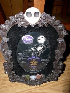 NIGHTMARE BEFORE CHRISTMAS JACK SKELLINGTON PHOTO FRAME