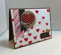 Stampin' Fun with Diana: Stylin' Stampin' INKspiration February Blog Hop: Hearts, Hearts, Everywhere!, Groovy Love, That's the Ticket, Decorative Mask, Valentine's, Big Shot, Stampin' Up, Diana Eichfeld