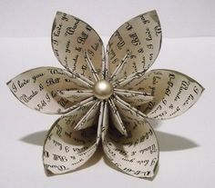 Personalized Anniversary I love you Paper Flower
