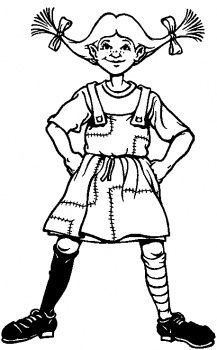 Pippi Longstocking coloring page | Super Coloring