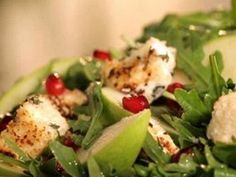 Add warm cream cheese croutons to your mixed greens salad recipe for a delicious lunch or an elegant dinner side.