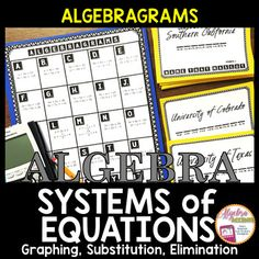 ALGEBRAGRAMS is a fun self-checking word game played by solving Algebra problems to win points by identify college mascots. This game is designed for independent practice on solving SYSTEMS OF EQUATIONS using any method. Objective:Students will solve up to 25 systems of equations on the Algebragrams Board to determine the ordered pair that corresponds with each letter.