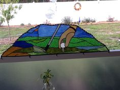 I made this for my husband. It sits between the two golf corner pieces on the lanai. Happy Fathers Day. Thanks to Mary Jane from ART:ERY for the pattern. I just extended it out the sides.