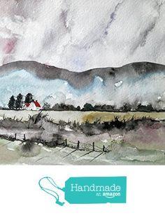 WATERCOLOR ORIGINAL Painting, Original Watercolor Painting-watercolor landscape, Pinetreeart, WATERCOLOR, landscape original, painting from Maine ARTist http://www.amazon.com/dp/B01G0LOWPG/ref=hnd_sw_r_pi_dp_AoCqxb00D37GD #handmadeatamazon